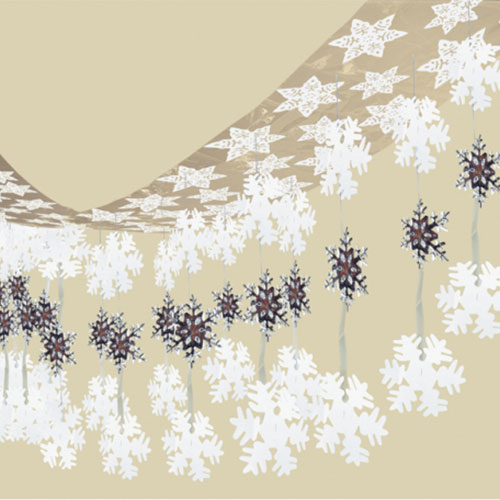 Let It Snow Christmas Hanging Ceiling Decoration 3m