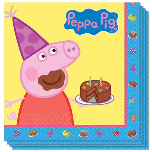 Peppa Pig Luncheon Napkins 33cm 2Ply - Pack of 16