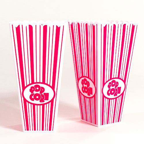 Plastic Popcorn Holders 19cm - Pack of 2