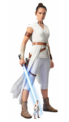 Rey Star Wars The Rise of Skywalker Lifesize Cardboard Cutout 174cm Product Gallery Image