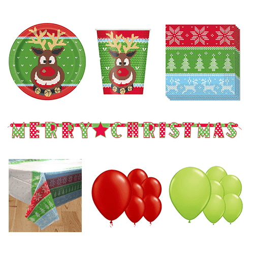 Ugly Sweater Christmas 16 Person Deluxe Party Pack