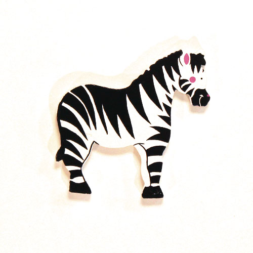 Zebra Wooden Magnetic Toy