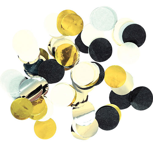 Golden Wishes Assorted Decorative Metallic Circles Paper Table Confetti 15 Grams