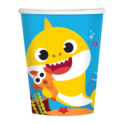 Baby Shark Paper Cups 266ml - Pack of 8 Bundle Product Image