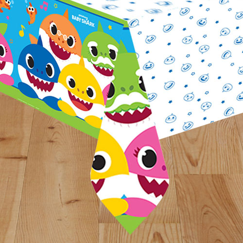 Baby Shark Paper Tablecover 243cm x 137cm Bundle Product Image