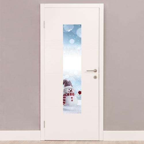 Snowman Christmas Portrait PVC Party Sign Decoration 122cm x 25cm