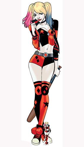 DC Comics Harley Quinn Baseball Bat Lifesize Cardboard Cutout 177cm