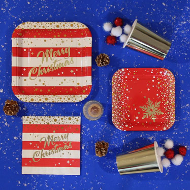 Gold Sparkle Christmas Party Supplies