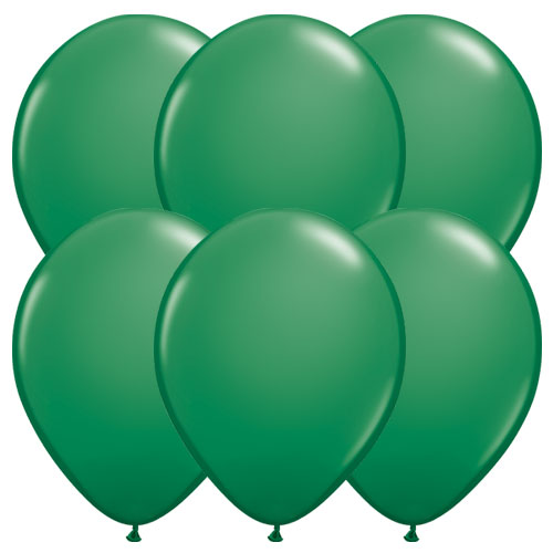 Green Round Latex Qualatex Balloons 28cm / 11 in – Pack of 10