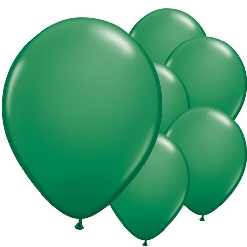 Green Round Latex Qualatex Balloons 28cm / 11 in – Pack of 100