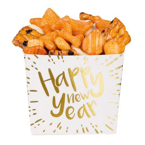 Happy New Year Gold Foiled Paper Bowls - Pack of 6