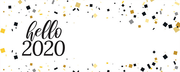 Hello 2020 New Year Design Small Personalised Banner – 4ft x 2ft