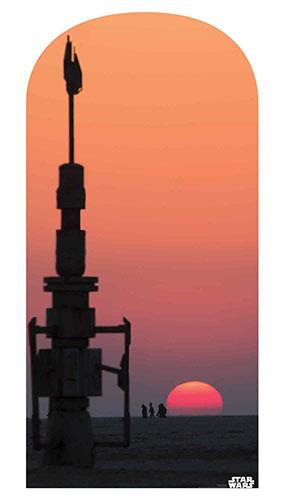 Jakku Sunset Star Wars Photo Backdrop Cardboard Cutout 184cm