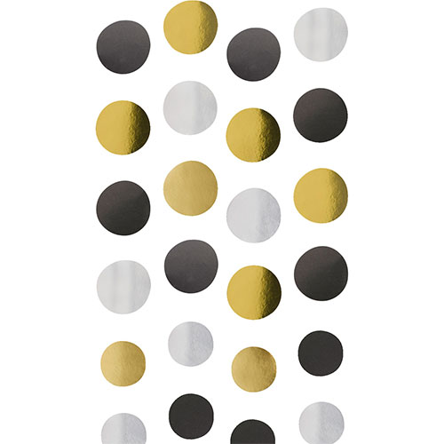 Golden Wishes Metallic Circles String Hanging Decorations 130cm - Pack of 4