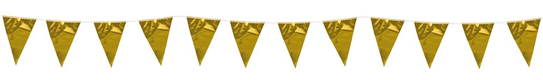 Metallic Gold Foil Pennant Bunting 10m