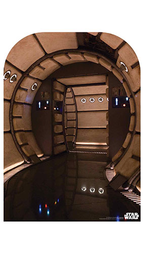 Millennium Falcon Corridor Child Size Star Wars Photo Backdrop Cardboard Cutout 130cm Product Gallery Image