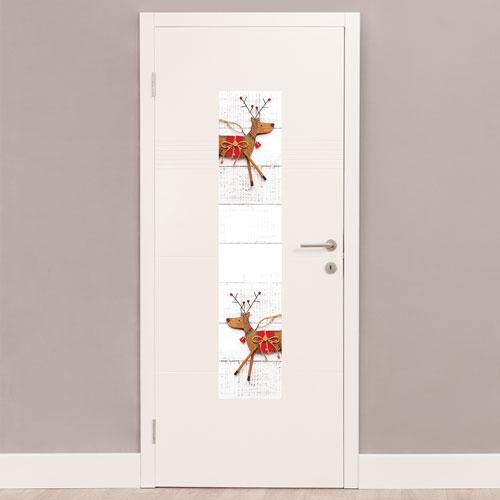 Wooden Reindeer Christmas Portrait PVC Party Sign Decoration 122cm x 25cm