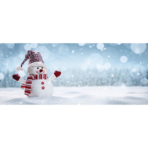 Snowman Christmas Design Small Personalised Banner – 4ft x 2ft
