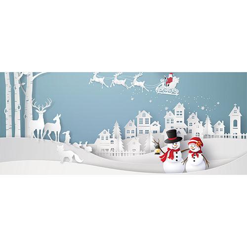 Christmas Scenery Landscape PVC Party Sign Decoration 60cm x 25cm