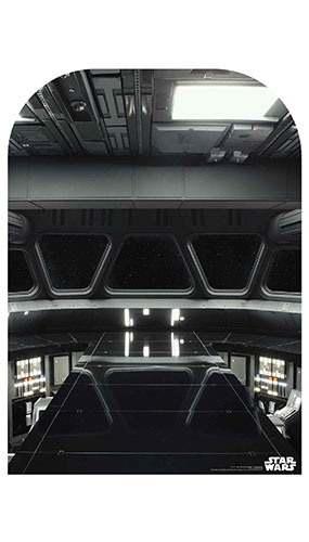 Star Destroyer Bridge Child Size Star Wars Photo Backdrop Cardboard Cutout 130cm Product Gallery Image