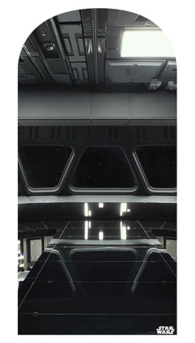 Star Destroyer Bridge Star Wars Photo Backdrop Cardboard Cutout 184cm Product Gallery Image