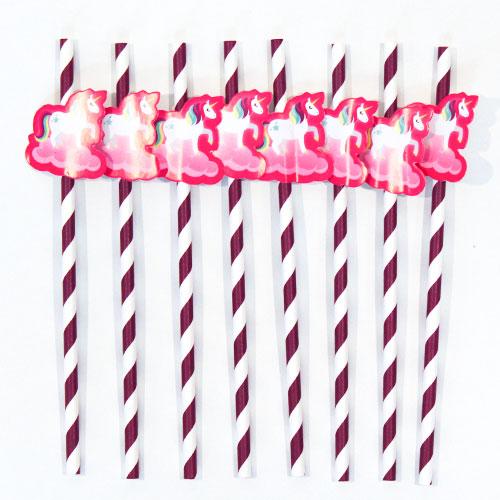 Unicorn Novelty Paper Straws - Pack of 20