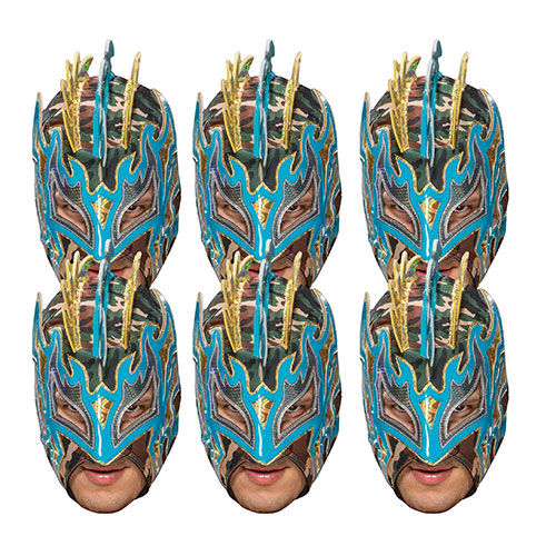 WWE Kalisto Cardboard Face Masks - Pack of 6 Product Image