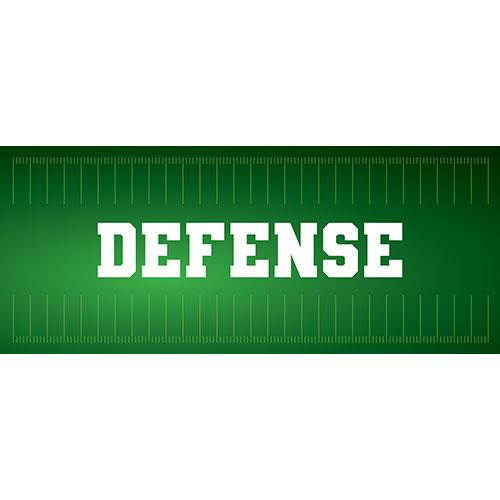 Defense American Football PVC Party Sign Decoration 60cm x 25cm