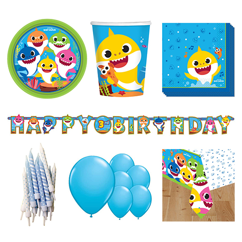 Baby Shark 8 Person Deluxe Party Pack