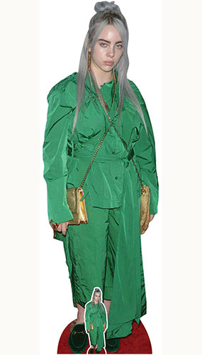 Billie Eilish Green Suit Gold Bag Lifesize Cardboard Cutout 161cm Product Gallery Image