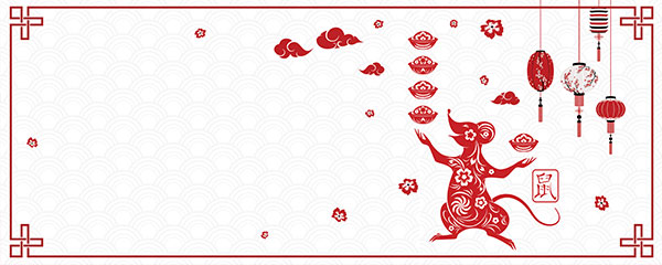 Chinese New Year White Design Small Personalised Banner – 4ft x 2ft