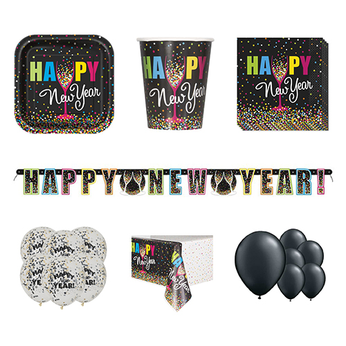 Confetti New Year 16 Person Deluxe Party Pack