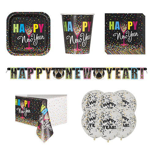 Confetti New Year 8 Person Deluxe Party Pack