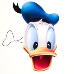 Disney Donald Duck Cardboard Face Mask Product Image