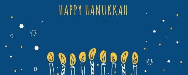 Happy Hanukkah Candles And Stars Design Large Personalised Banner – 10ft x 4ft