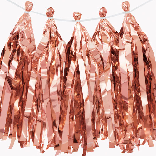 Rose Gold Foil Tassel Garland 274cm Product Image