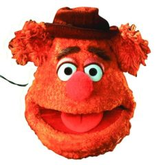 The Muppets Fozzy Bear Cardboard Face Mask Product Image