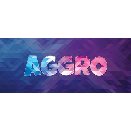 Aggro Home Screen Background PVC Party Sign Decoration 60cm x 25cm