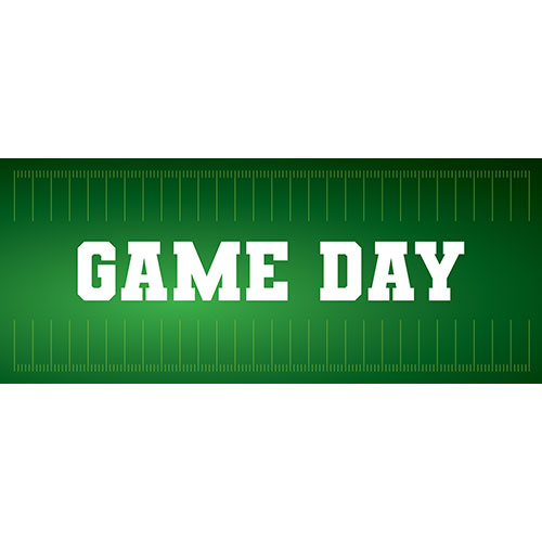 Game Day American Football PVC Party Sign Decoration 60cm x 25cm