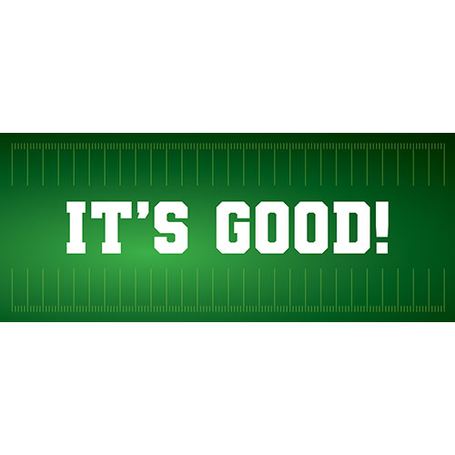 It's Good American Football PVC Party Sign Decoration 60cm x 25cm