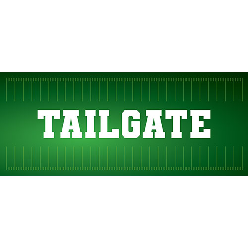 Tailgate American Football PVC Party Sign Decoration 60cm x 25cm
