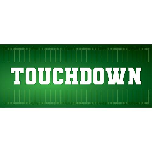 Touchdown American Football PVC Party Sign Decoration 60cm x 25cm