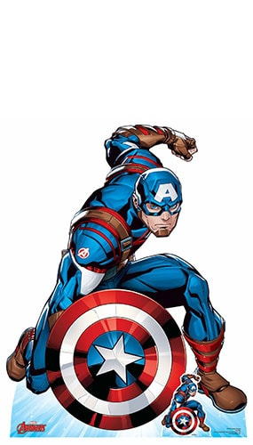 Avengers Comics Captain America First Avenger Lifesize Cardboard Cutout 131cm Product Gallery Image
