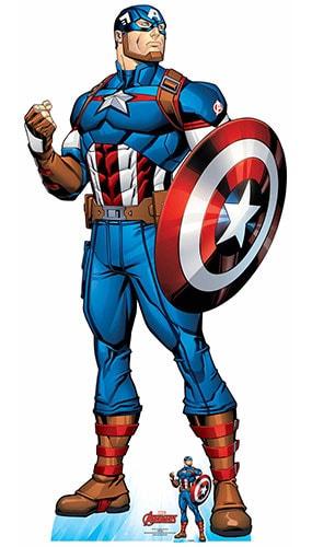 Avengers Comics Captain America Superhero Lifesize Cardboard Cutout 191cm
