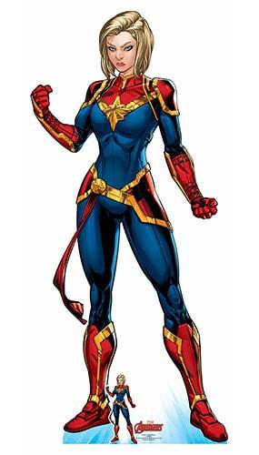 Avengers Comics Captain Marvel Superhero Lifesize Cardboard Cutout 185cm Product Gallery Image