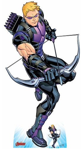 Avengers Comics Hawkeye Bow and Arrow Lifesize Cardboard Cutout 177cm Product Gallery Image