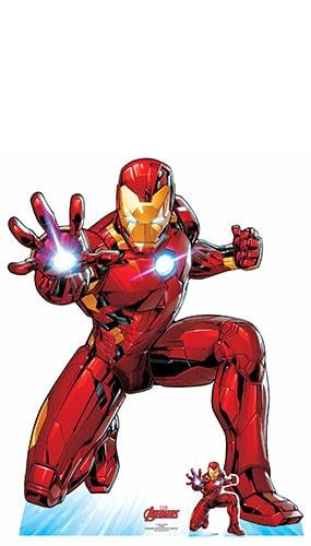 Avengers Comics Iron Man Ballistic Salvo Lifesize Cardboard Cutout 130cm