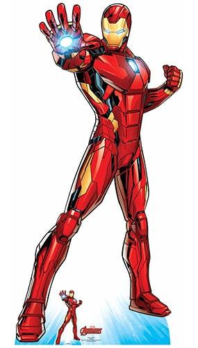 Avengers Comics Iron Man Superhero Lifesize Cardboard Cutout 191cm