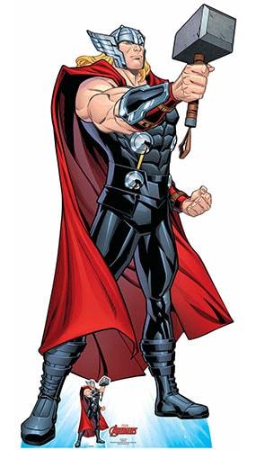 Avengers Comics Thor Mjolnir's Might Lifesize Cardboard Cutout 194cm