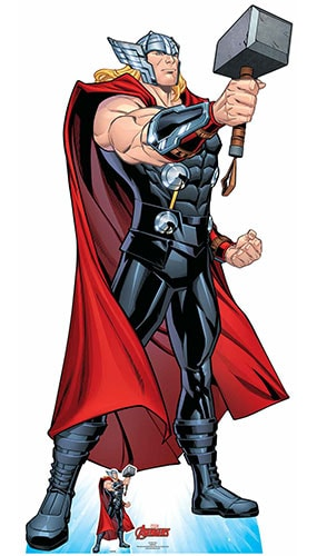 Avengers Comics Thor Mjolnir's Might Lifesize Cardboard Cutout 194cm Product Gallery Image